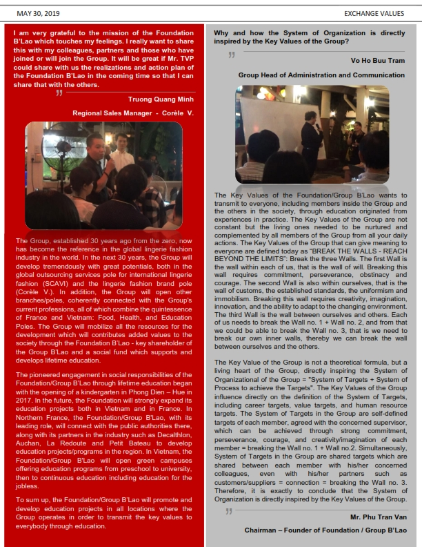 Newsletter of Conversation Event   Key Values   Eng_001